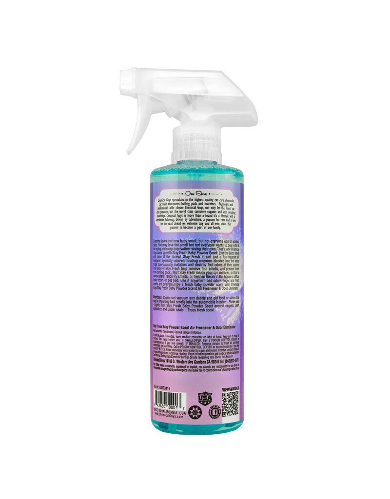 Chemical Guys Stay Fresh Baby Powder Scented Air Freshener (16oz)