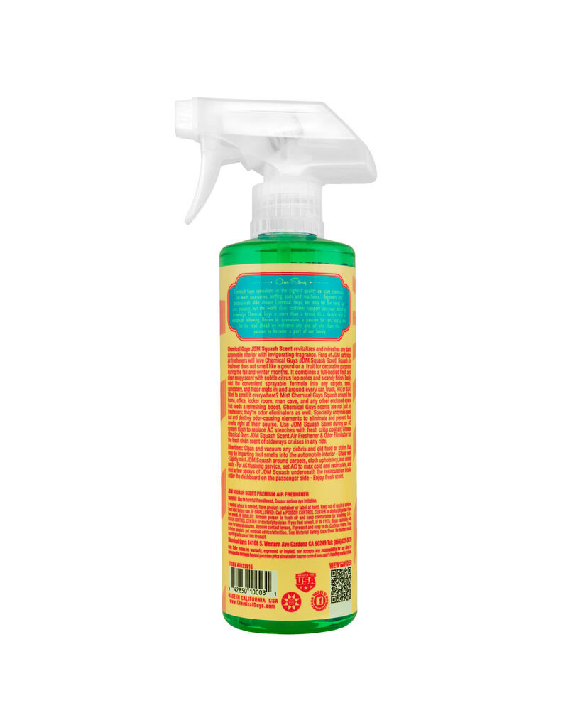 Chemical Guys JDM Squash Scent Air Freshener (16oz)