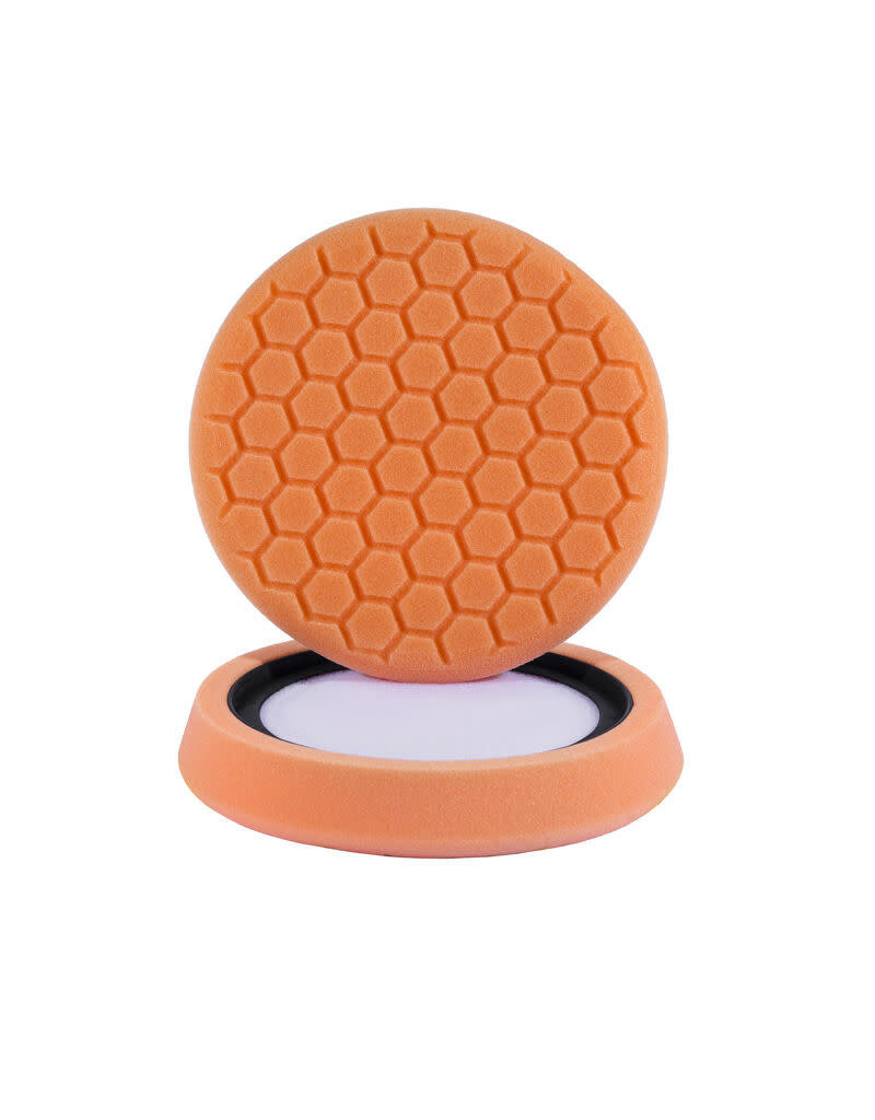 "Hex-Logic 7.5"" ""SELF CENTER"" HEX-LOGIC PAD ORANGE MEDIUM-HEAVY CUT SCRATCH & SWIRL REMOVER Pad- (7.5""inch)"