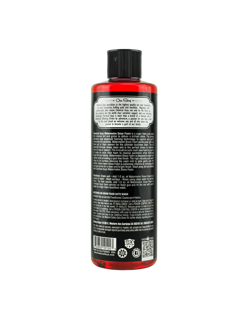 Chemical Guys Watermelon Snow Foam Cleanser (Amazon Exclusive) (16oz)