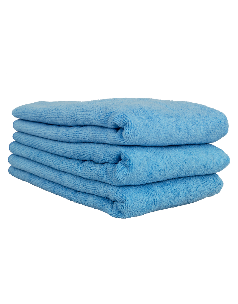 """Chemical Guys Workhorse Professional Microfiber Towel, Blue 16"""" x 24"""" (3 Pack)"""