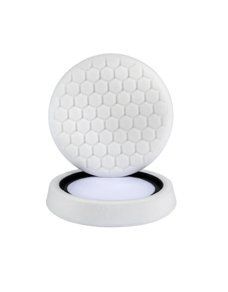 "Hex-Logic 7.5"" ""SELF CENTER"" HEX-LOGIC PAD - WHITE MEDIUM LIGHT POLISHING PAD (7.5""inch)"