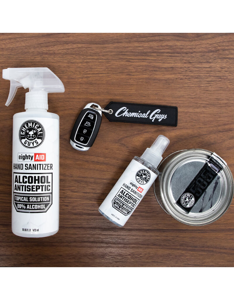 Chemical Guys Hand Sanitizer Alcohol Antiseptic 80% Topical Solution (4 oz)