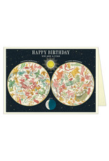 Cavallini Papers & Co. Happy Birthday Constellation Greeting Card Brittany GC/HBCONST