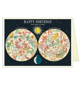 Cavallini Papers & Co. BIRTHDAY- Happy Birthday Constellation Greeting Card Brittany GC/HBCONST