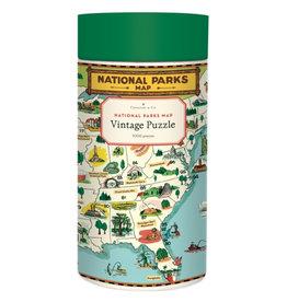 Cavallini Papers & Co. Cavallini Puzzle National Parks Map 1,000 Pcs