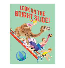 Laughing Elephant Camel & Children on a Slide Notecard A7 Thinking of You