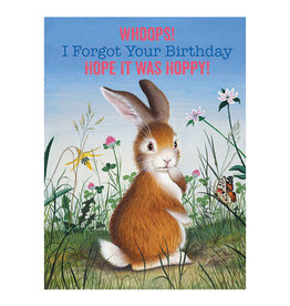 Laughing Elephant Contrite Bunny Notecard A7 Birthday