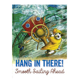 Laughing Elephant Dog in a Rough Sea Notecard A7 Encouragement