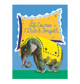 Laughing Elephant Elephant Remembering Notecard A7 Birthday