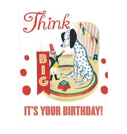 Laughing Elephant Giant Dalmatian Notecard A7 Birthday