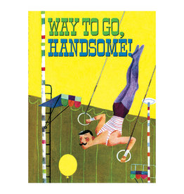 Laughing Elephant Handsome Aerialist Notecard A7 Thinking of You