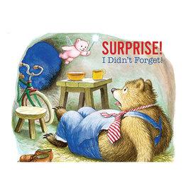 Laughing Elephant Shocked Bear Notecard A7 Birthday