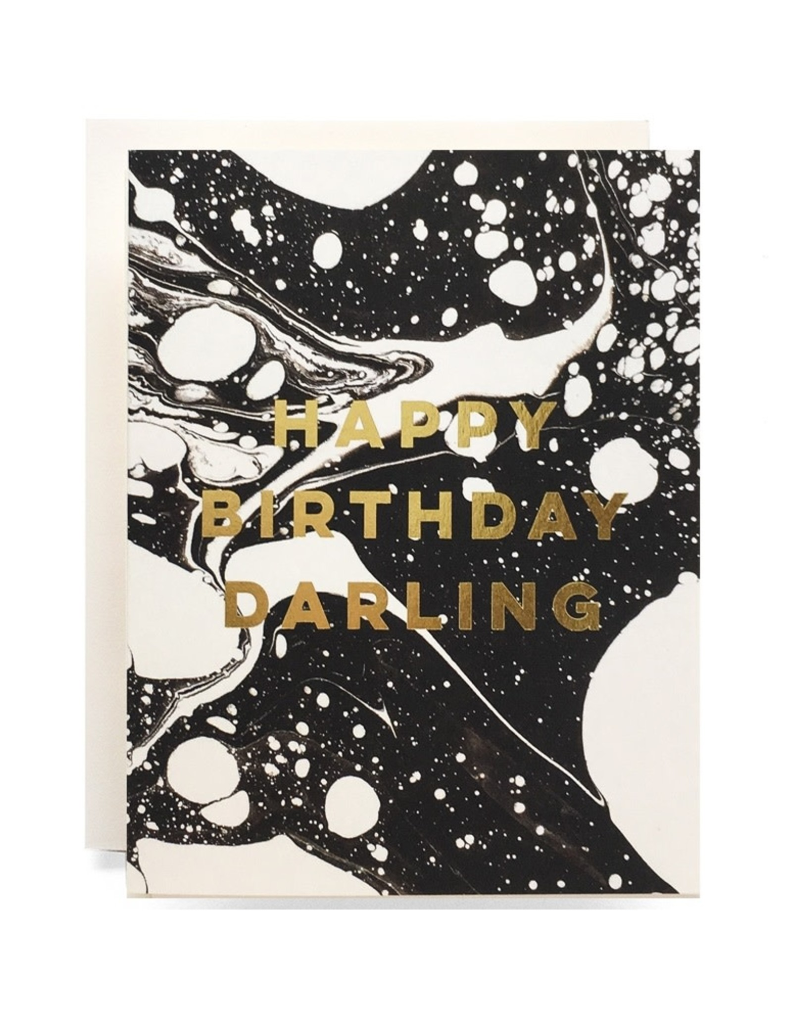 Antiquaria Marble Birthday Darling A2 Greeting Card