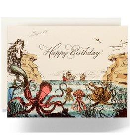 Antiquaria Sea Odyssey Birthday A2 Greeting Card