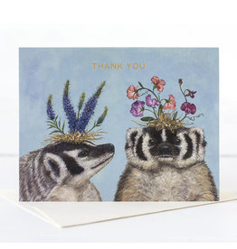Hester & Cook Thank You Badger Sisters Greeting Card A2