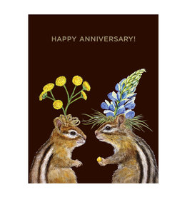 Hester & Cook Anniversary Chipmunk Greeting Card A2