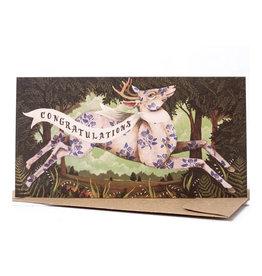 Hester & Cook Congratulations Deer Greeting Card A2