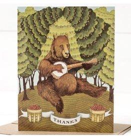 Hester & Cook Thanks Banjo Bear Greeting Card A2