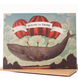 Hester & Cook Hang in There Whale Greeting Card A2