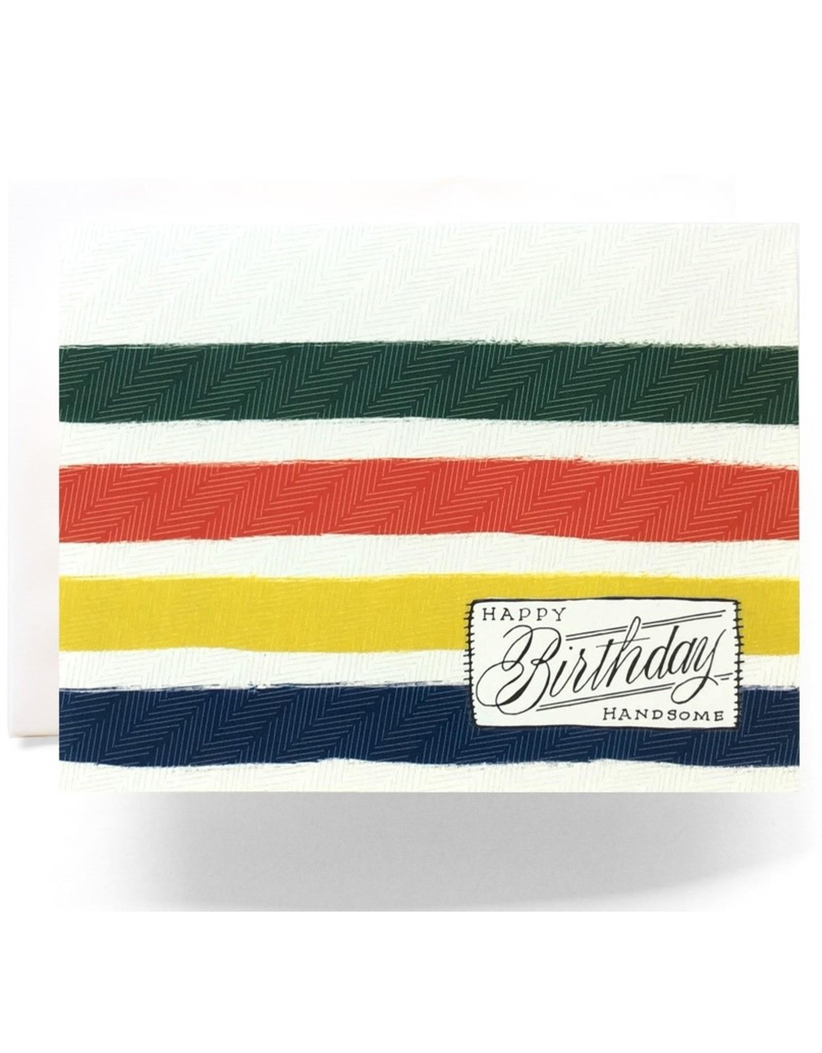 Antiquaria Camp Blanket Birthday Handsome Notecard