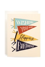 Antiquaria Pennant Birthday A2 Notecard