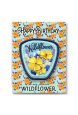 Antiquaria Wildflower Birthday Patch Notecard