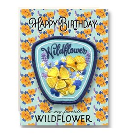 Antiquaria Patch Card: Wildflower Birthday A2 Greeting Card