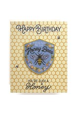 Antiquaria Honeybee Birthday A2 Patch Notecard
