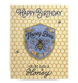 Antiquaria Honeybee Birthday A2 Patch Notecard