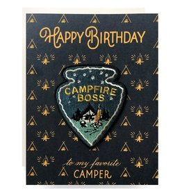 Antiquaria Patch Card: Campfire Boss Birthday A2 Greeting Card