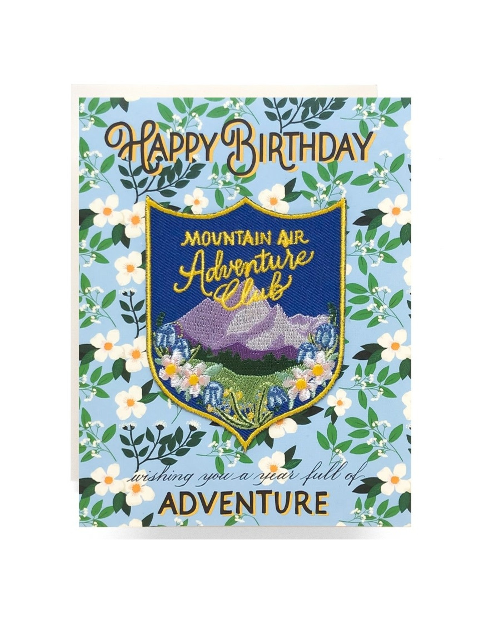 Antiquaria Mountain Adventure Birthday Patch Notecard