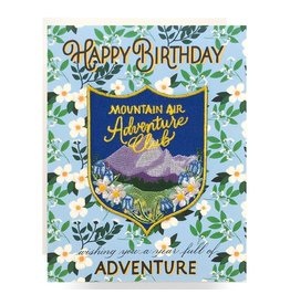 Antiquaria Patch Card: Mountain Adventure Birthday A2 Greeting Card