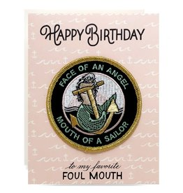 Antiquaria Patch Card: Face of an Angel Birthday A2 Greeting Card