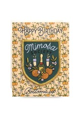 Antiquaria Mimosa Birthday A2 Patch Notecard