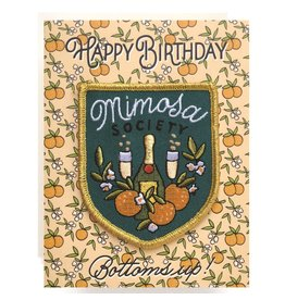 Antiquaria Patch Card: Mimosa Birthday A2 Greeting Card