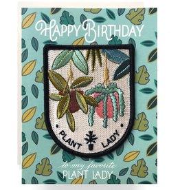 Antiquaria Patch Card: Plant Lady Birthday A2 Greeting Card