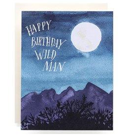 Antiquaria Wild Man Birthday A2 Greeting Card