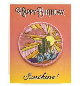 Antiquaria Cactus Sunset Birthday Patch Notecard