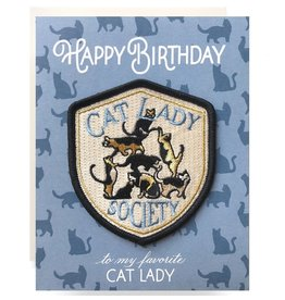 Antiquaria Cat Lady Birthday A2 Patch Notecard
