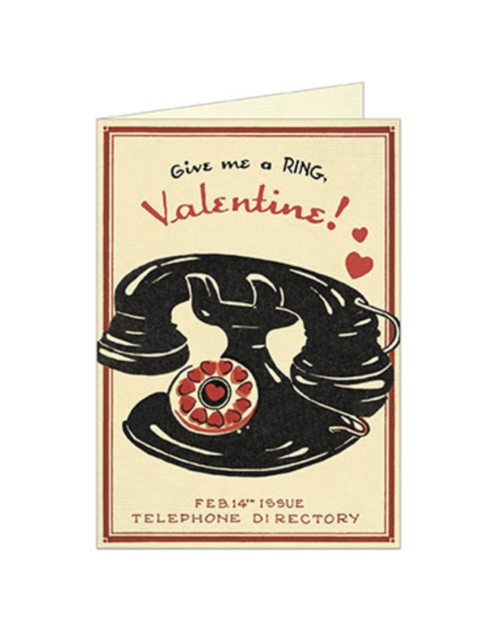 Cavallini Papers & Co. Valentine Telephone  Greeting Notecard