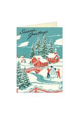 Cavallini Papers & Co. Christmas Winter Wonderland Greeting Notecard