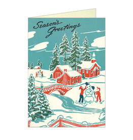 Cavallini Papers & Co. Christmas Winter Wonderland Brittany Notecard