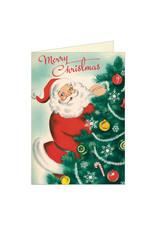 Cavallini Papers & Co. Christmas Santa Notecard