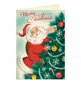 Cavallini Papers & Co. Christmas Santa Notecard