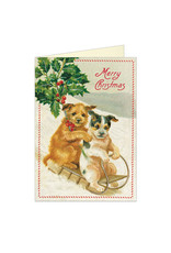Cavallini Papers & Co. Merry Christmas Dogs Greeting Notecard
