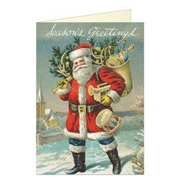 Cavallini Papers & Co. Seasons Greetings Santa Brittany Notecard