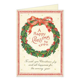 Cavallini Papers & Co. Christmas Wreath Greeting Notecard