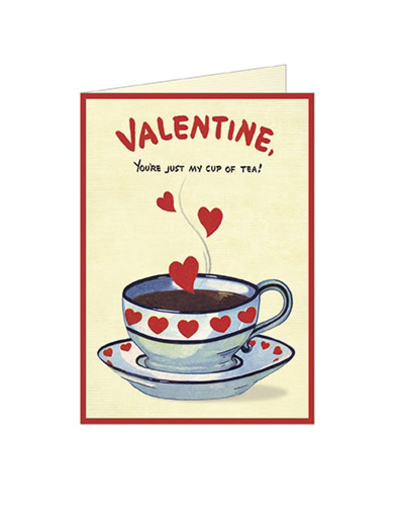 Cavallini Papers & Co. Valentine Cup of Tea Greeting Notecard