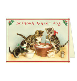 Cavallini Papers & Co. Christmas Cats 3 Brittany Notecard